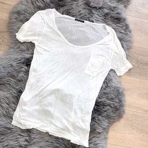 BRANDY MELVILLE white oversized t-shirt